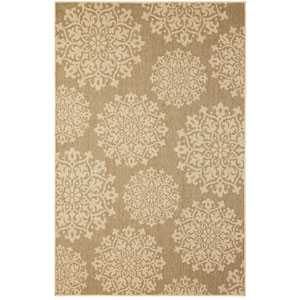 Oasis Sanibel Natural Rectangular: 5 Ft. 3 In. x 7 Ft. 6 In. Rug