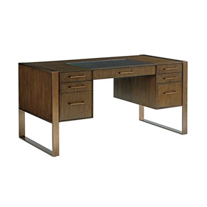 Cross Effect Mocha Structure Desk