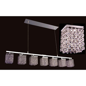 Bedazzle Chrome Seven-Light Pendant with Crystal Accents