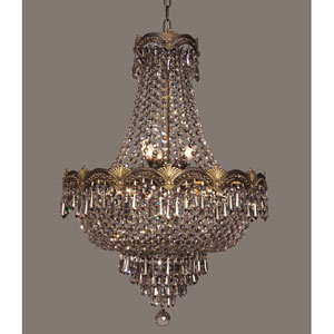 Regency II Roman Bronze Three-Light Chandelier with Smoked Crystal Accents