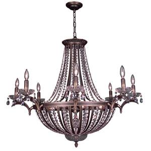 Terragona Roman Bronze Sixteen-Light Chandelier with Swarovski Strass Crystal Accents
