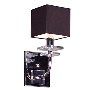 Quadrille Black One-Light Wall Sconce