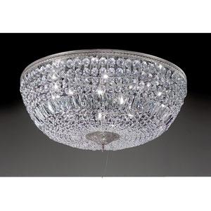 Crystal Baskets Chrome Ten-Light Flush Mount