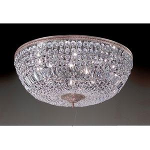 Crystal Baskets Millenium Silver Ten-Light Flush Mount