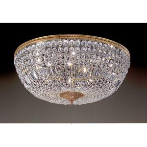Crystal Baskets Olde World Bronze Ten-Light Flush Mount
