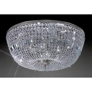 Crystal Baskets Chrome Twelve-Light Flush Mount