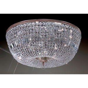 Crystal Baskets Millenium Silver Twelve-Light Flush Mount