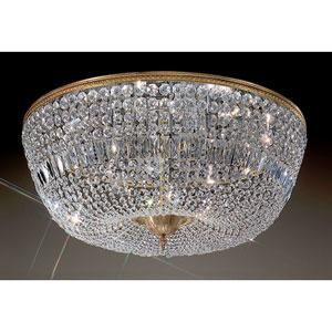 Crystal Baskets Olde World Bronze Twelve-Light  Flush Mount