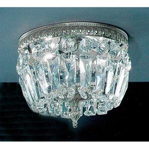 Crystal Baskets Chrome Two-Light Flush Mount