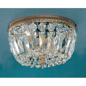 Crystal Baskets Olde World Bronze Two-Light Flush Mount