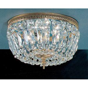 Crystal Baskets Olde World Bronze Three-Light Flush Mount