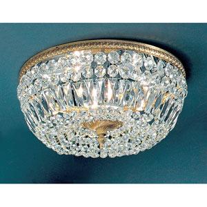 Crystal Baskets Olde World Bronze Five-Light Flush Mount