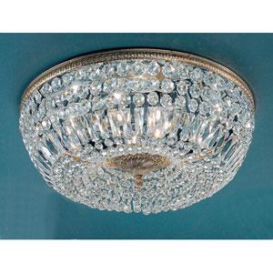 Crystal Baskets Olde World Bronze Eight-Light Flush Mount
