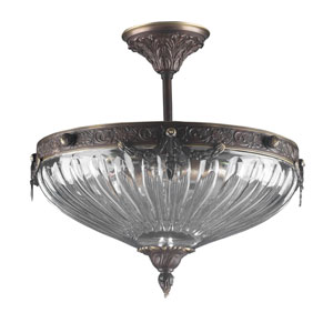 Warsaw Roman Bronze Semi Flush Mount
