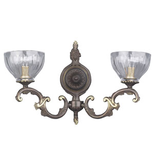 Warsaw Roman Bronze Two-Light Wall Sconce