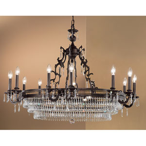 Renaissance Matte Bronze Eighteen-Light Chandelier