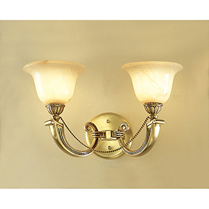 Monica Satin Bronze with Black Patina Two-Light Wall Sconce