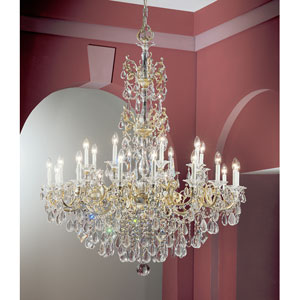 Via Venteo Champagne Pearl Twenty Four-Light Chandelier with Crystal Accents