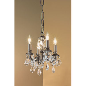 Majestic Aged Pewter Four-Light Mini Chandelier