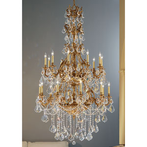 Majestic Imperial French Gold Twenty-Light Chandelier