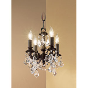 Majestic Imperial Aged Bronze Four-Light Mini Chandelier