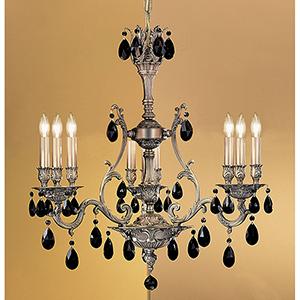 Majestic Aged Bronze Nine-Light Chandelier