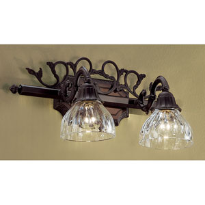 Majestic Aged Bronze Two-Light Bath Fixture