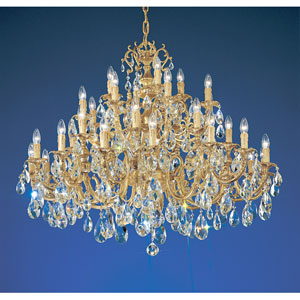Princeton Satin Bronze with Brown Patina Thirty Six-Light Chandelier