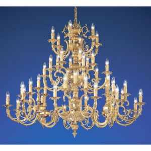 Princeton Satin Bronze with Brown Patina Forty Eight-Light Chandelier