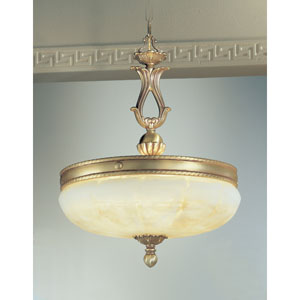 Alexandria Satin Bronze with Brown Patina Five-Light Pendant