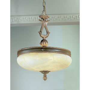Alexandria Victorian Bronze Five-Light Pendant