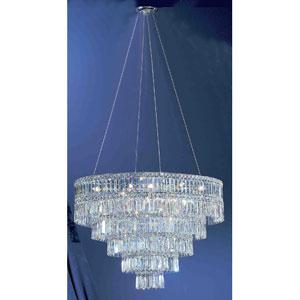 Sofia Chrome Eleven-Light Chandelier