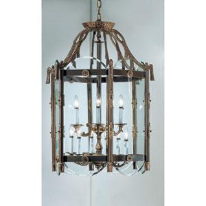 Charleston Victorian Bronze Twelve-Light Lantern Pendant