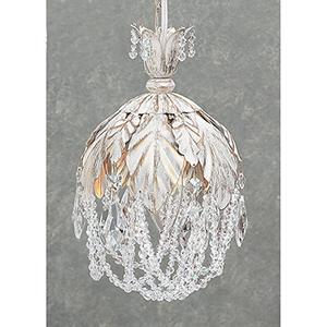 Petite Fleur Antique White One-Light Mini Pendant