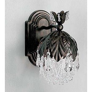 Petite Fleur English Bronze One-Light Wall Sconce