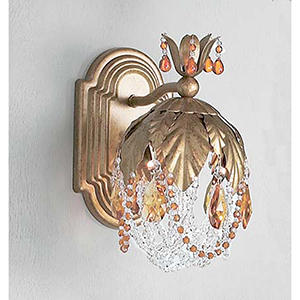 Petite Fleur Olde Gold One-Light Wall Sconce