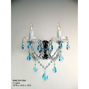 Rialto Traditional Chrome Two-Light Wall Sconce