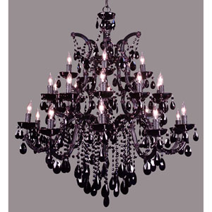 Rialto Traditional Black Twenty-Five Light Chandelier