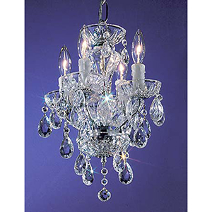 Daniele Chrome Four-Light Mini Chandelier