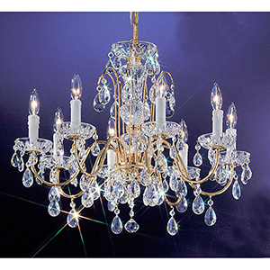 Daniele Gold Plated Eight-Light Chandelier