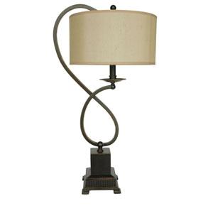 Bronze Metal One-Light Table Lamp