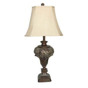 Brushed Umber One-Light Table Lamp