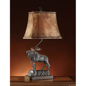 Majestic Moose One-Light Table Lamp