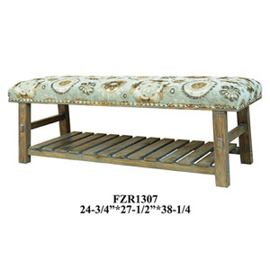 Hillcrest Rustic Frame and Pattern Bench