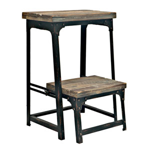 Industria Step Stool With Reclaimed Wood Finish