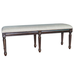 Hampton Linen Accent Bench