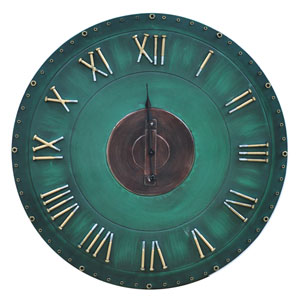 Southern Enterprises Multicolor Gear Wall Art With Clock