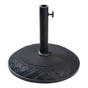 Compound Resin Basket Weave Umbrella Stand, Black