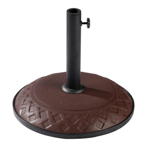 Compound Resin Basket Weave Umbrella Stand, Chocolate