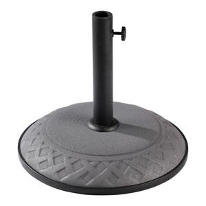 Compound Resin Basket Weave Umbrella Stand, Grey